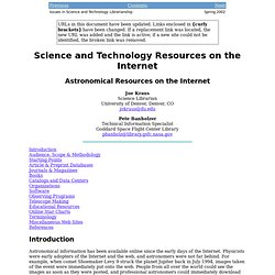 Astronomical Resources on the Internet