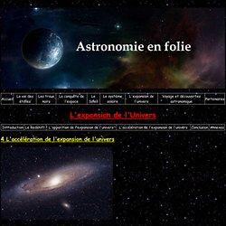 L'accélération de l'expansion de l'univers