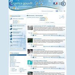 Astronomie / Aéronautique - Ressources web