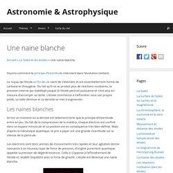 Une naine blanche - Astronomie & Astrophysique