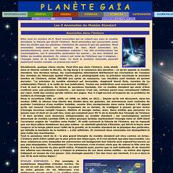 Astronomie -> Astrophysique -> Les 9 Anomalies du Modèle Standart