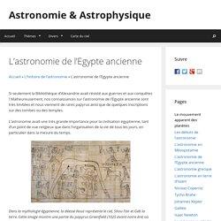 L'astronomie de l'Egypte ancienne