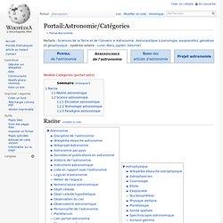 Portail:Astronomie/Catégories