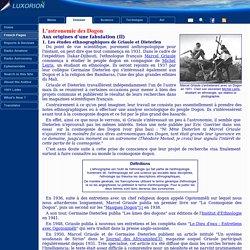 L'astronomie des Dogon - Pseudo-science et contamination culturelle
