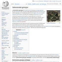 Astronomie grecque