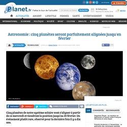 Astronomie : cinq planètes seront parfaitement alignées jusqu'en février