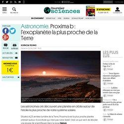 Astronomie. Proxima b : l'exoplanète la plus proche de la Terre