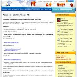 Astronomie et utilisation du TBI