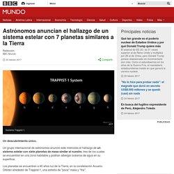Astrónomos anuncian el hallazgo de un sistema estelar con 7 planetas similares a la Tierra - BBC Mundo