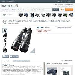 Zhumell Tachyon 25x100 Astronomy Binoculars with Locking Aluminum Case - Binoculars at Binoculars