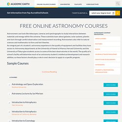Video Courses on Academic Earth