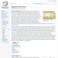 Egyptian astronomy