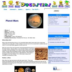 Astronomy for Kids: The Planet Mars