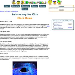 Astronomy for Kids: Black Holes