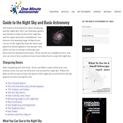 Guide to the Night Sky and Basic Astronomy – One Minute Astronomer