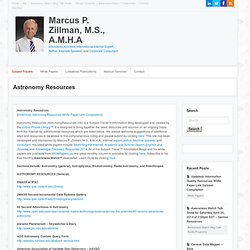 Astronomy Resources Subject Tracer Information Blog