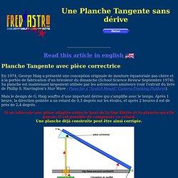 Site d'astrophotographie de Fred - Une planchette équatoriale tangente sans dérive