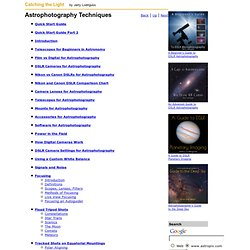 Astrophotography Techniques