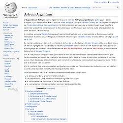 Astrum Argentum