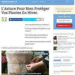L'Astuce Pour Bien Protéger Vos Plantes En Hiver.