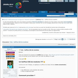 Tuto : Suffixe CSS de modules - Forums Joomla.fr