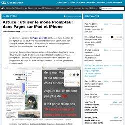 Astuce : utiliser le mode Prompteur dans Pages sur iPad et iPhone