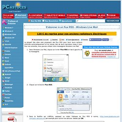 S'abonner à un flux RSS - Windows Live Mail