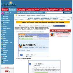 Afficher plusieurs onglets à l'écran - Firefox