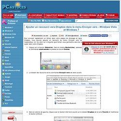 Ajouter un raccourci vers Dropbox dans le menu Envoyer vers - Windows Vista et Windows 7