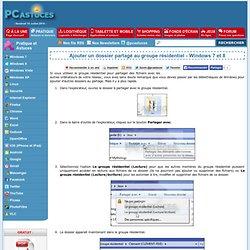Ajouter un dossier partagé au groupe résidentiel - Windows 7 et 8