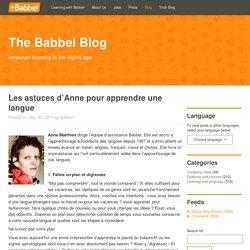 Les astuces d'Anne pour apprendre 1 langue