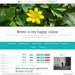 Mes astuces pour apprivoiser E-sidoc v2 (1/3) – Green is my happy colour