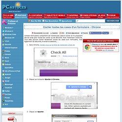 Cocher toutes les cases d'un formulaire - Chrome