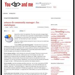astuces de community manager : les statistiques | You Brand Me
