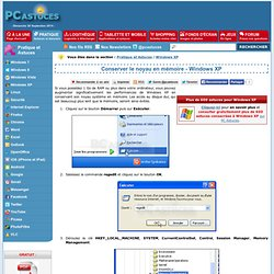 Conserver le noyau en mémoire - Windows XP