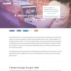 """8 astuces pour créer une bonne page """"À propos"""""""