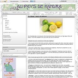 Le citron : trucs et astuces - La cuisine en toute simplicité