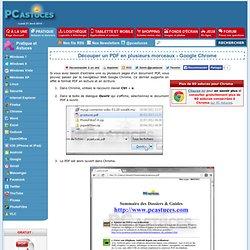 Découper un PDF en plusieurs morceaux - Google Chrome