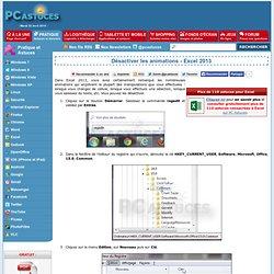 Désactiver les animations - Excel 2013