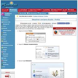 Désactiver une barre d'outils - Firefox