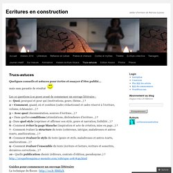 Ecritures en construction