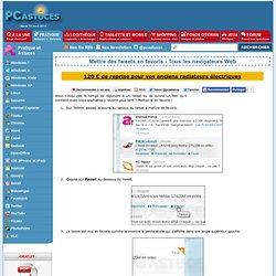 Mettre des tweets en favoris - Tous les navigateurs Web