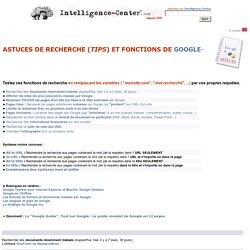 Astuces et fonctions de recherche Google