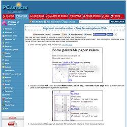 Imprimer un mètre ruban - Tous les navigateurs Web