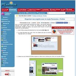 Organiser ses onglets avec le mode Panorama - Firefox