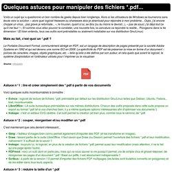 Astuces *.pdf !