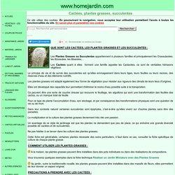 TRUCS ET ASTUCES POUR PLANTES GRASSES, CACTEES et SUCCULENTES