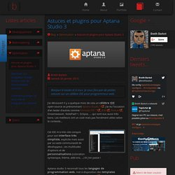 Astuces et plugins pour Aptana Studio 3