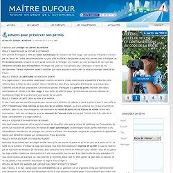 astuces pour préserver son permis — Maitre Dufour avocat automobile