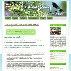 Le Jardin de Jenny / 2 astuces principales pour mon potager